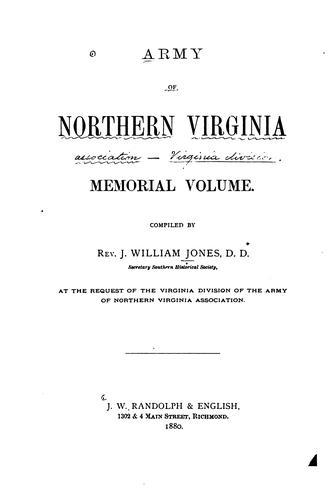 Army of northern Virginia memorial volume.