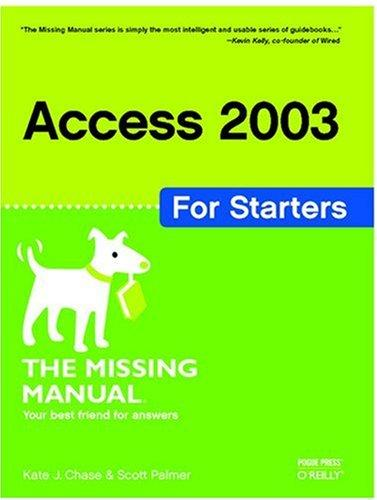 Access 2003 for starters by