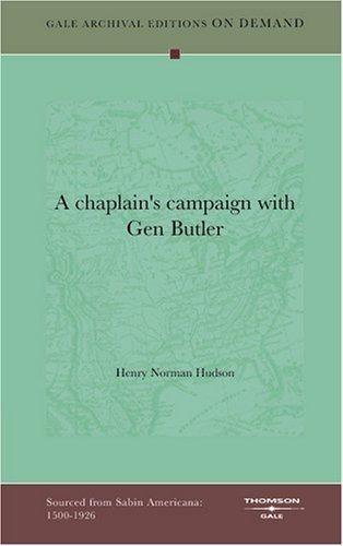 A chaplain's campaign with Gen Butler