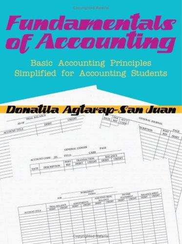 FUNDAMENTALS OF ACCOUNTING by Donatila Agtarap-San Juan