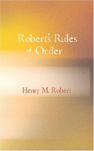 Robert\'s Rules of Order