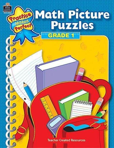 Math Picture Puzzles Grade 1 (Practice Makes Perfect (Teacher Created Materials)) by IN-HOUSE