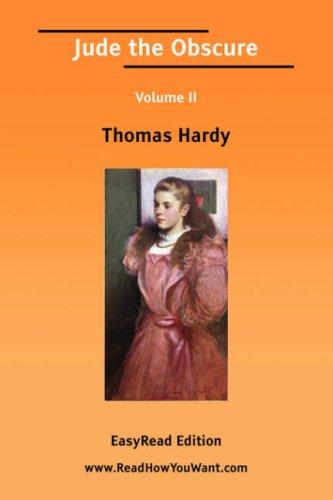 Jude the Obscure Volume II by Thomas Hardy