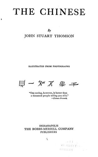 The Chinese by John Stuart Thomson