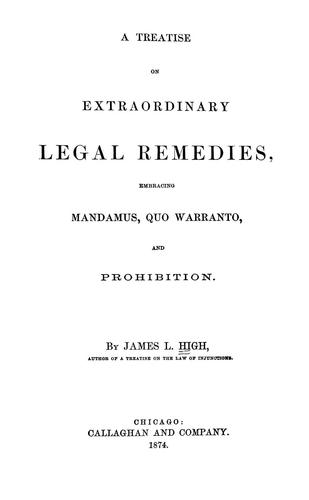 A treatise on extraordinary legal remedies