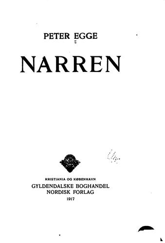 Narren by Egge, Peter