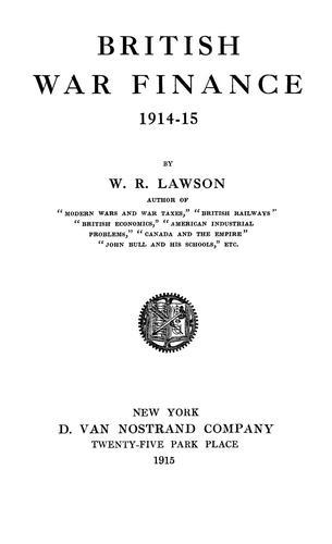 British war finance, 1914-15