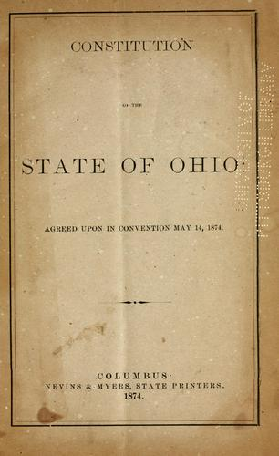 Constitution (1851) by Ohio.