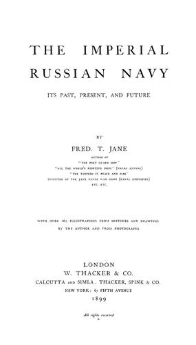 Imperial Russian navy by Fred T. Jane