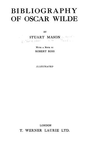 Bibliography of Oscar Wilde by Stuart Mason