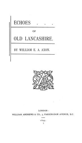 Echoes of old Lancashire.
