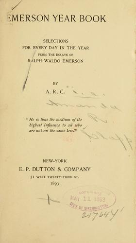 Emerson year book