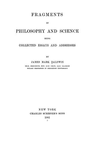 Fragments in philosophy and science