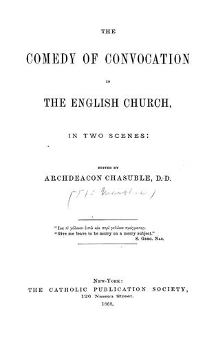 The comedy of convocation in the English Church