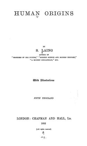Human origins by S. Laing