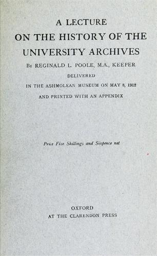 A lecture on the history of the university archives