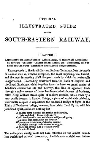 The Official Illustrated Guide to the South-Eastern Railway and All Its Branches by George S. Measom