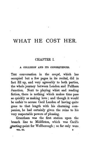 What he cost her by James Payn