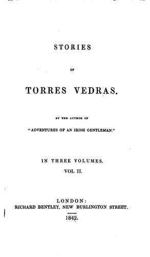 Stories of Torres Vedras by John Gideon Millingen