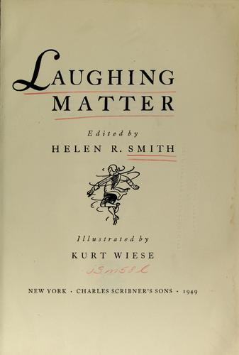 Laughing matter by Helen R. Smith