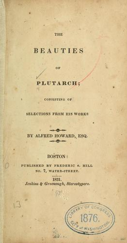 The beauties of Plutarch by Plutarch