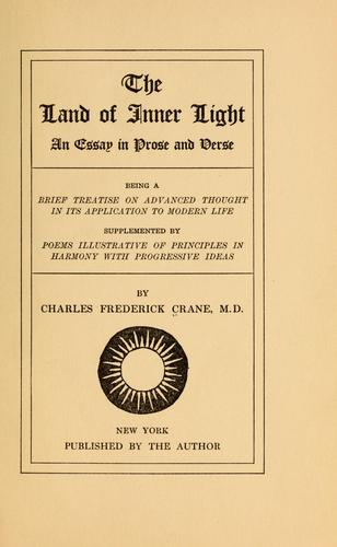 The land of inner light by Charles Frederick Crane