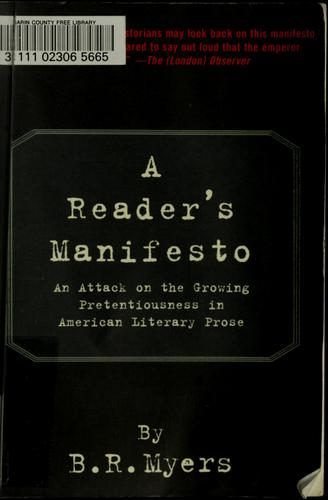 A reader's manifesto by B. R. Myers