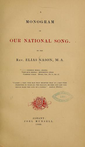 A monogram on our national song.