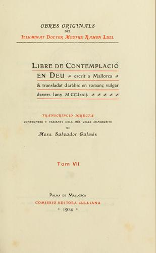 Obres doctrinalis by Ramon Llull