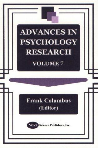 Advances in Psychology Research, Vol. 7 by Frank Columbus