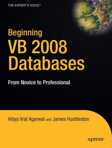 Beginning VB 2008 databases by