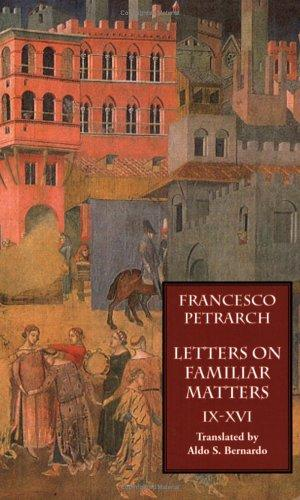 Letters on Familiar Matters (Rerum Familiarium Libri): Vol. 2 by Francesco Petrarca