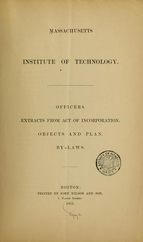 Officers by Massachusetts Institute of Technology