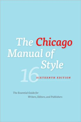 The Chicago manual of style by
