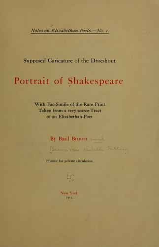 Supposed caricature of the Droeshout portrait of Shakespeare by Brown, Basil