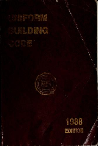 1988 uniform building code by International Conference of Building Officials
