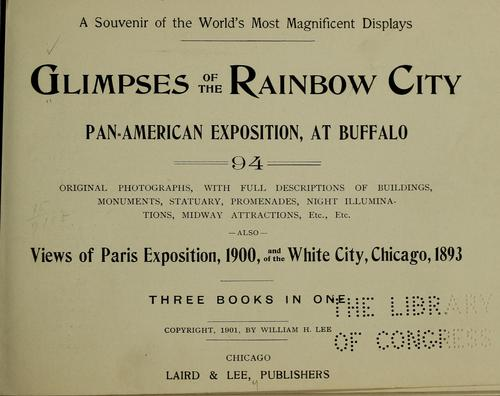 Glimpses of The Rainbow City, Pan-American Exposition, at Buffalo by