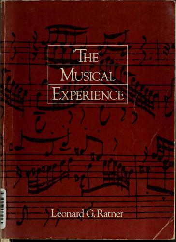 The musical experience by Leonard G. Ratner