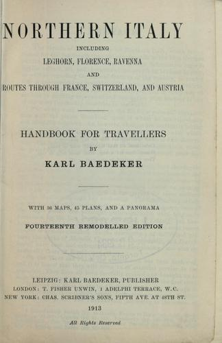 Northern Italy by Karl Baedeker (Firm)