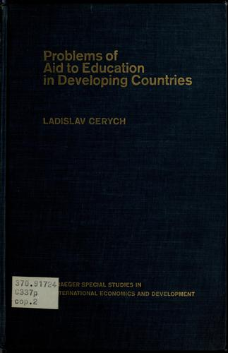 Problems of aid to education in developing countries.
