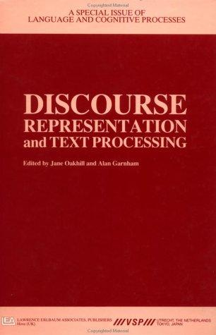 Discourse Representation and Texts by Oakhill/Ga