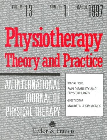 PAIN DISABILITY AND PHYSIOTHERAPY by Simmonds