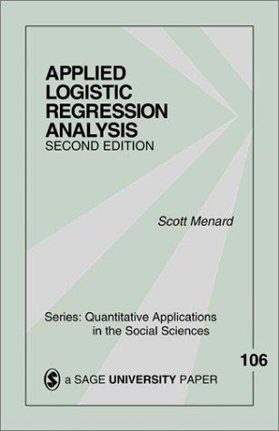 Applied logistic regression analysis by Scott W. Menard