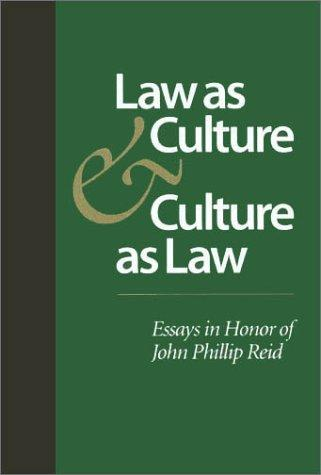 Law as Culture and Culture as Law by Hendrik Hartog