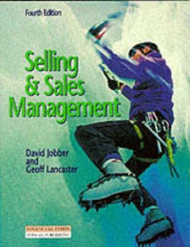 Selling & Sales Management