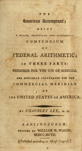 The American accomptant by Lee, Chauncey