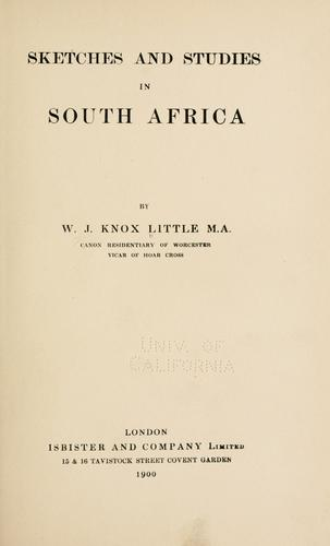 Sketches and studies in South Africa