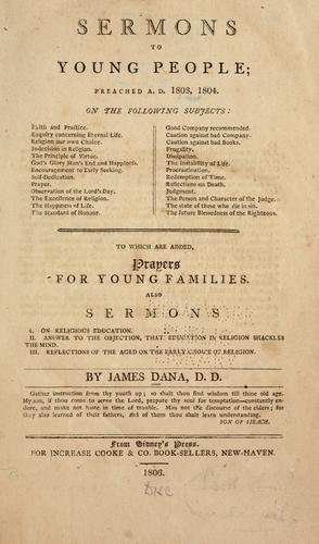 Sermons to young people by James Dana