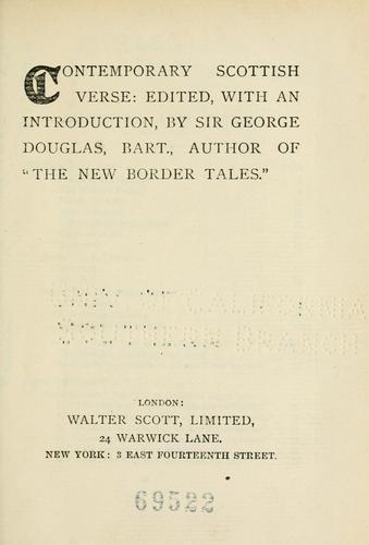 Contemporary Scottish verse