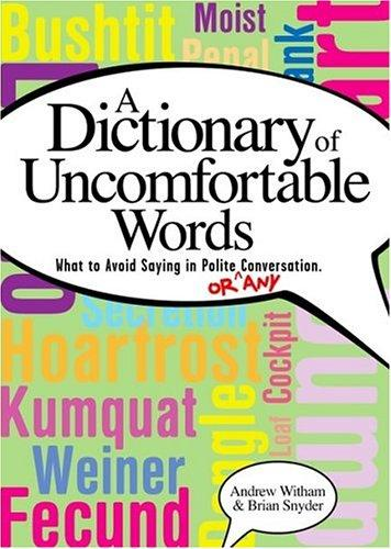 The dictionary of uncomfortable words by Andrew Witham